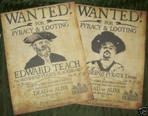 Custom Replica Pirate Wanted Poster with your image