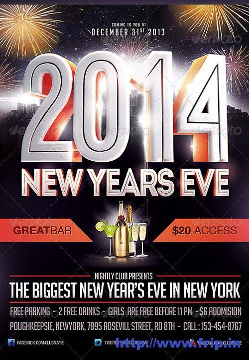 Best 35 Christmas & New Year Flyer Templates For 2014 | Frip.in