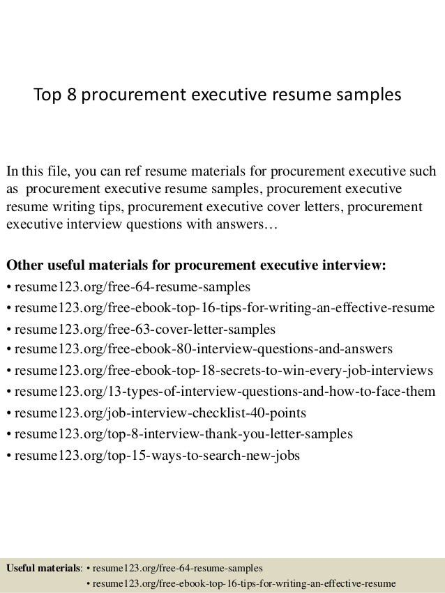 procurement resume objective download procurement resume