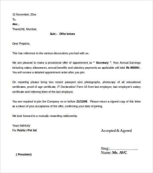Job Letter Format. Job Vacancy Application Letter Format ...