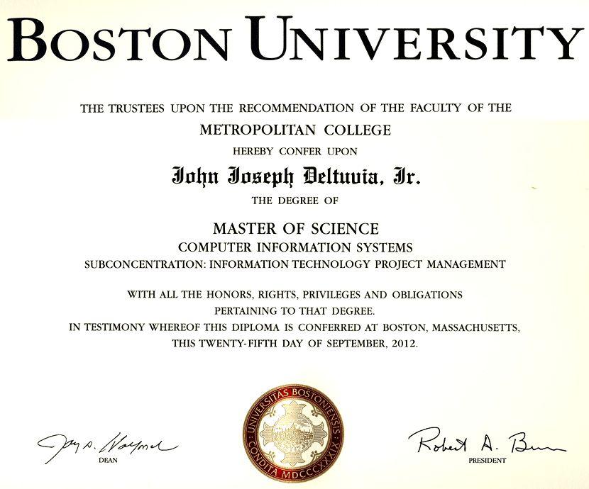 John J. Deltuvia, Jr. - Virtual Certificate Wall