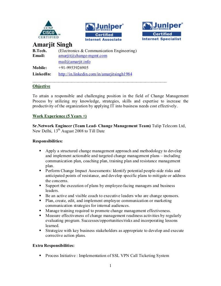 Amarjit Singh Resume: Team Lead Change Management at Tulip Telecom In…