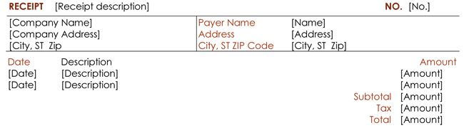 8+ Payment Receipt Templates for any Organization