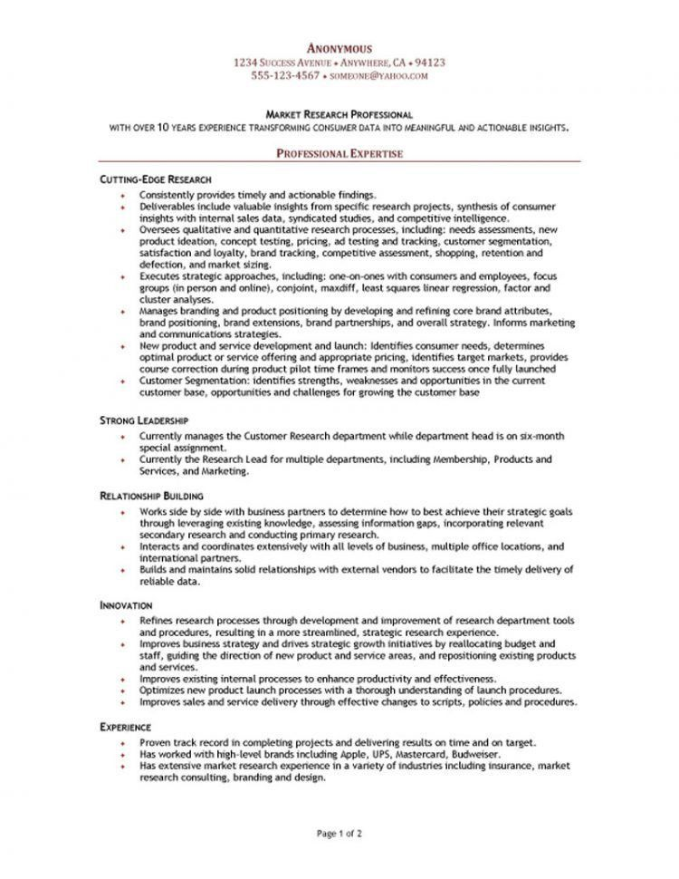 data analyst resume sample resume template info. market researcher ...