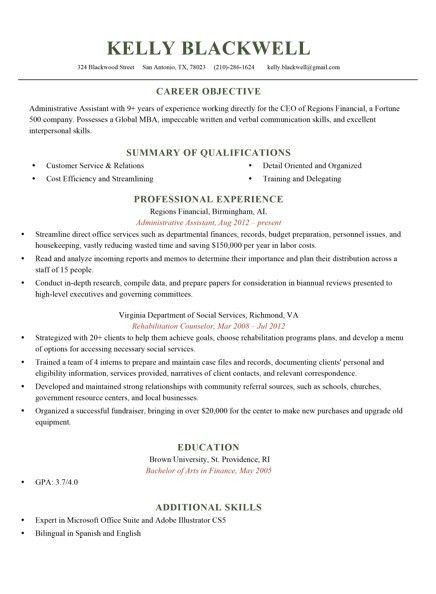 Acap Resume Builder. 6 sample military to civilian resumes resume ...