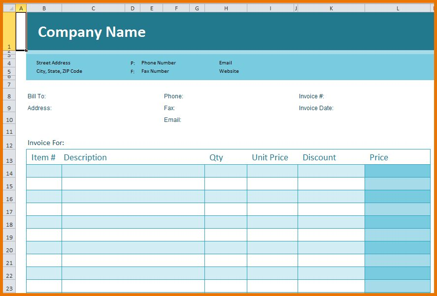 Excel Spreadsheet Template.excel Template.png | Scope Of Work Template