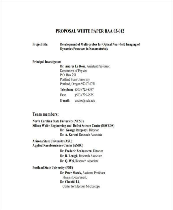38+ Sample White Paper Templates | Free & Premium Templates