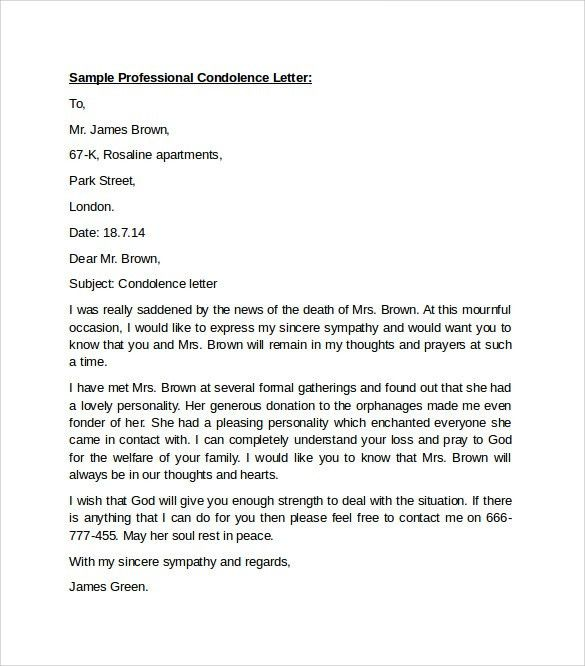 Sample Professional Letter Format - 9+ Download Free Documents In ...