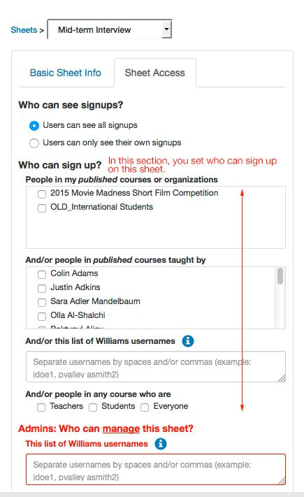 How do I create a new signup sheet? | Office for Information ...