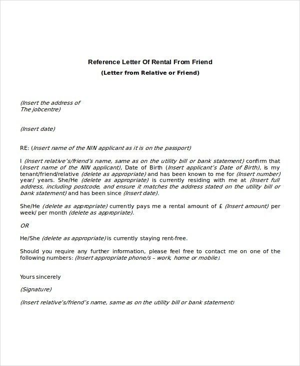 Tenant Recommendation Letter. Tenant-Reference-Letter-Sample-3 7+ ...