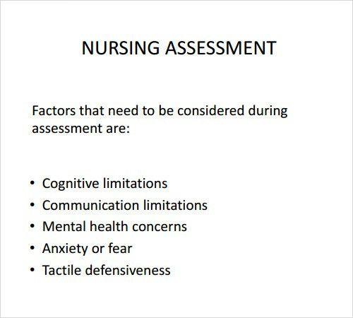 Sample Nursing Assessment. Pediatric Neuro Nursing Sample ...