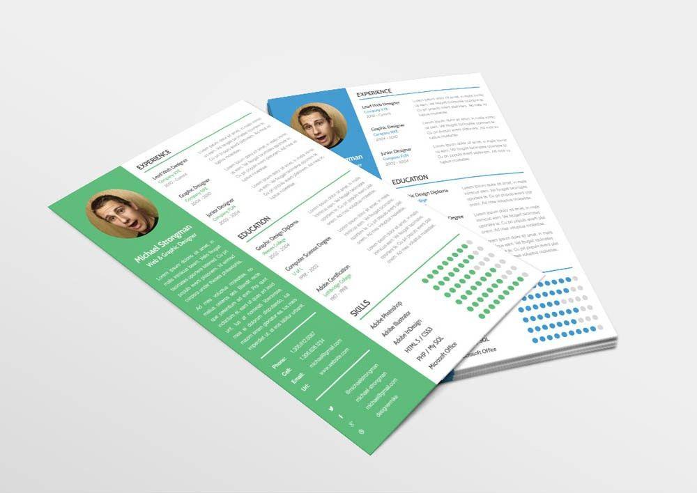 Free PSD Resume Template | Themeco Blog