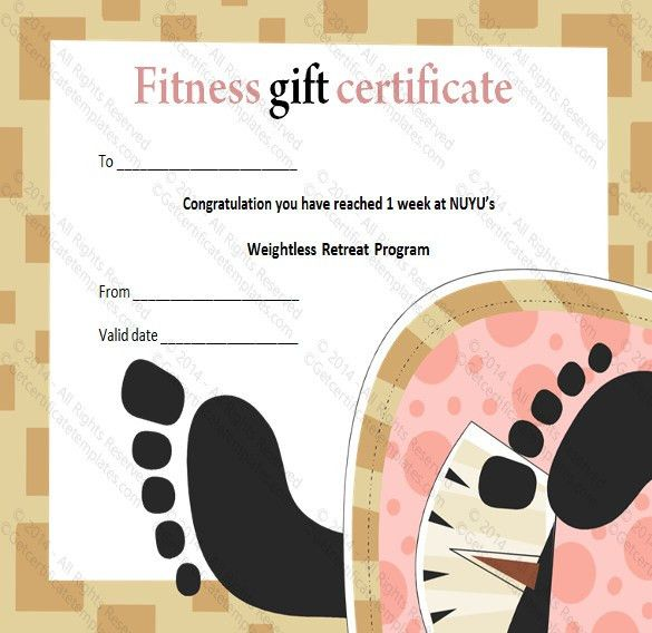 Fitness gift certificate template 36 free gift certificate fitness gift certificate templates 7 free word pdf documents yadclub Choice Image