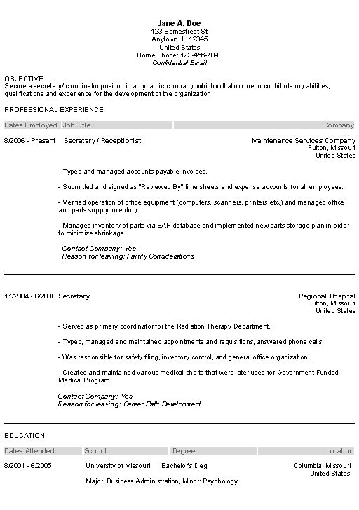 Summary Of Skills And Qualifications Objectives Secretary Resume ...
