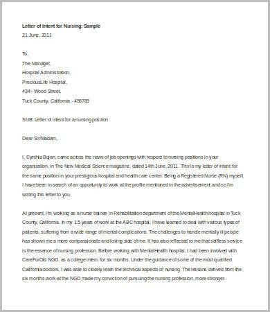 Letter of Intent For Job - 8+ Free Word, PDF Documents Download ...