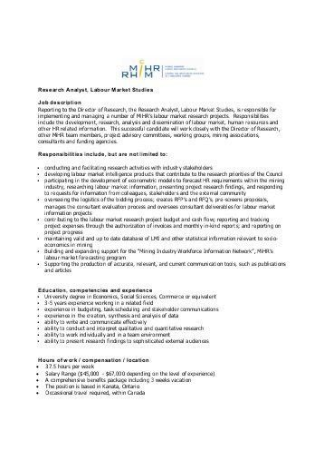 Research Analyst Job Description. Research Data Analyst Assistant ...