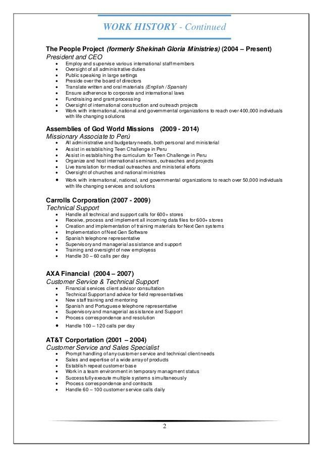Tech support customer service resume