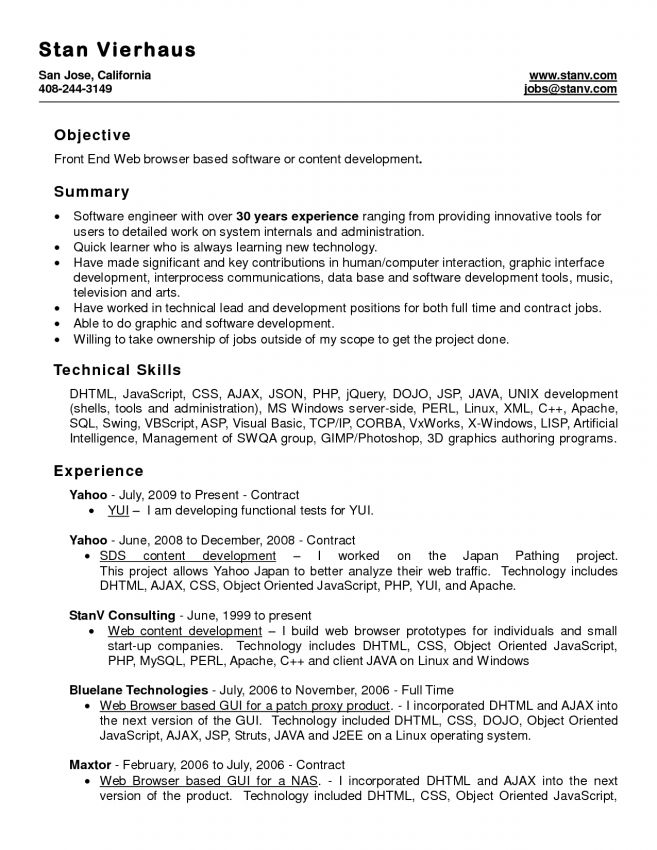 Resume Template With Ms Word File ( Free Download) by ...