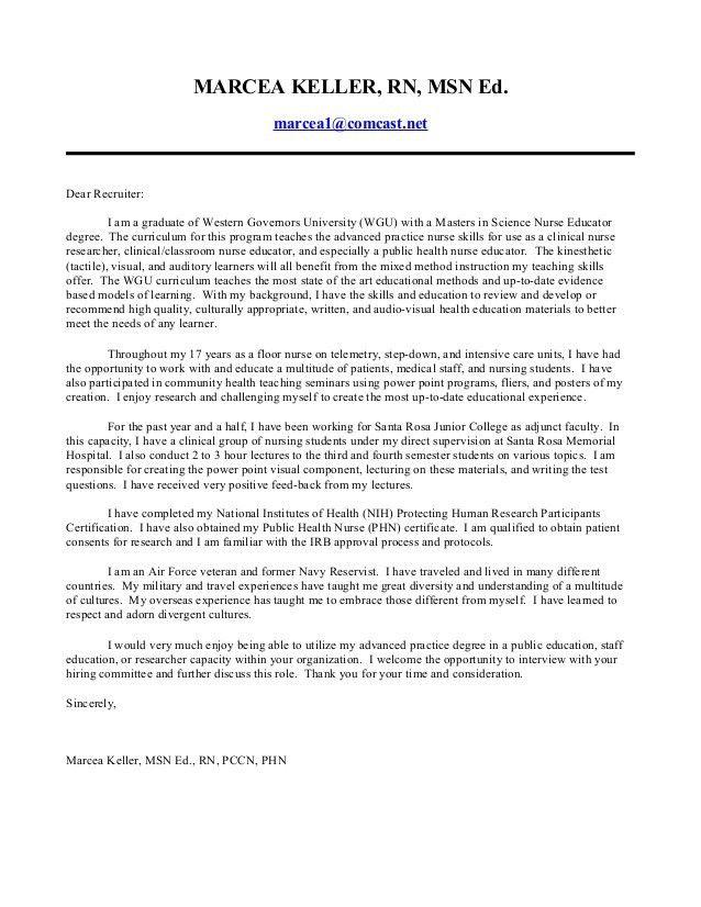 Nursing Student Cover Letter. Leading Professional Perioperative ...