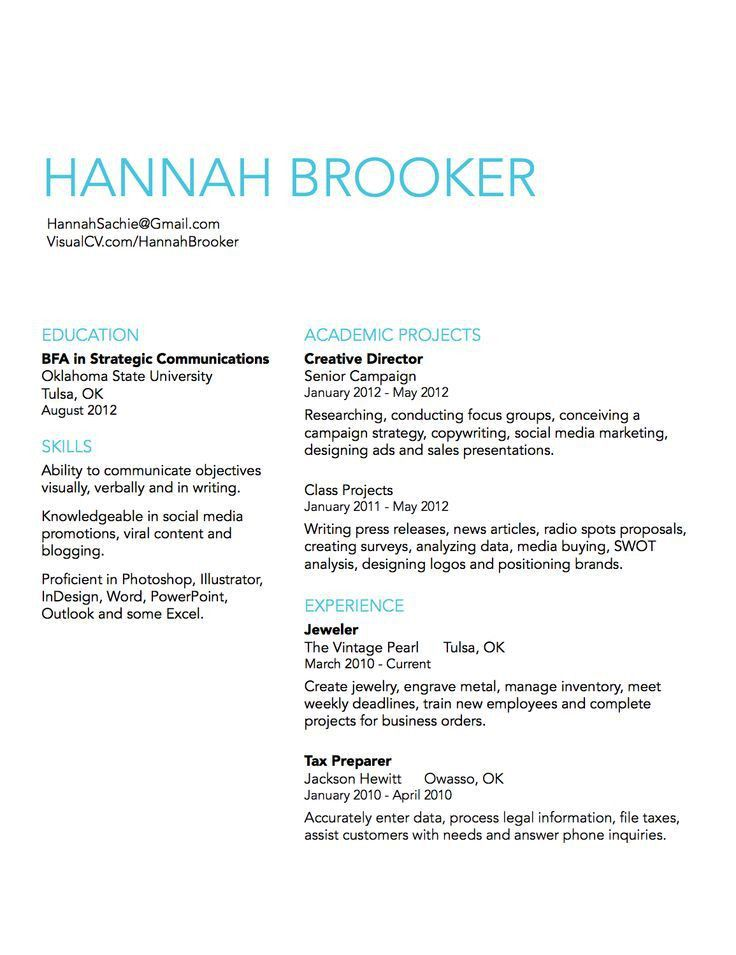 73 best Resume design images on Pinterest | Resume ideas, Resume ...