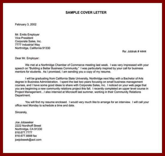 Cover Letters For Sales Positions