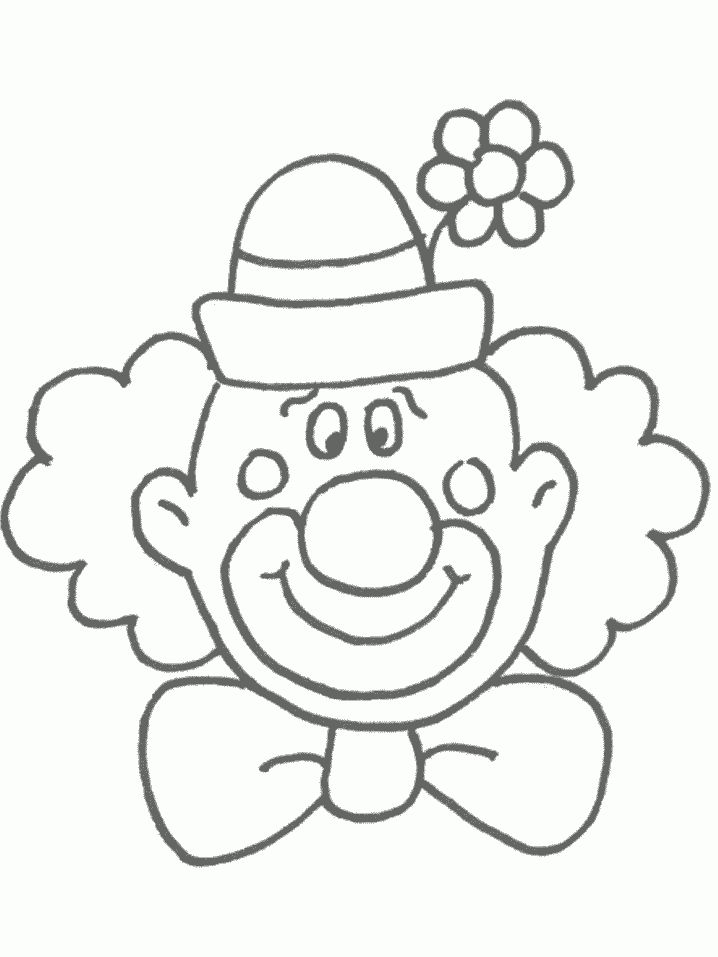 clown face template printable | Free Printable Clown Coloring ...