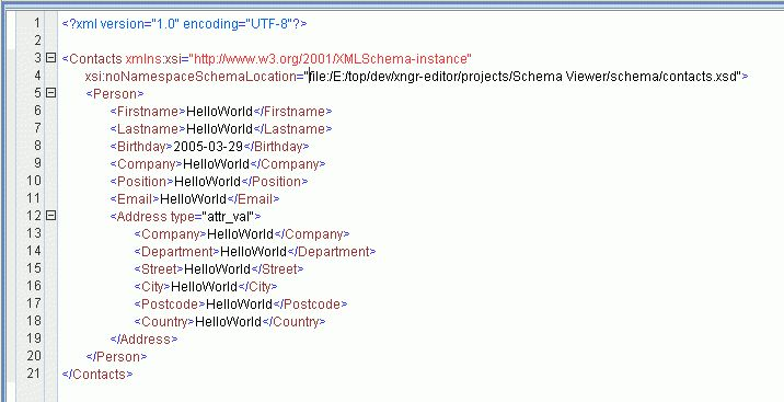 Exchanger XML Editor