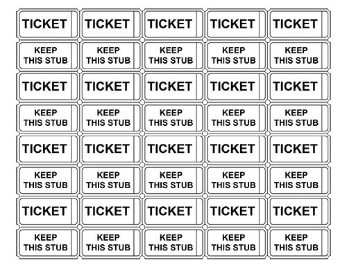 Printable Admission Tickets without Numbers | Crafts | Pinterest ...