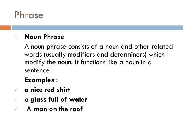 Translation) attributive and phrase