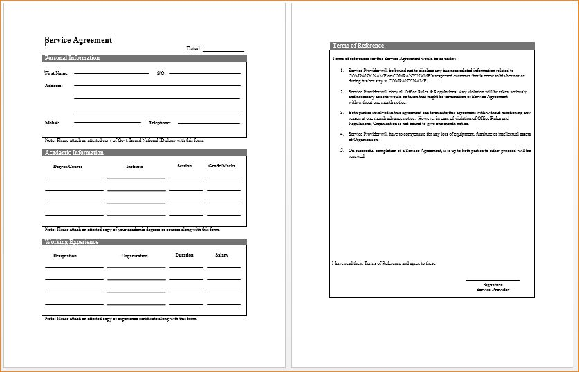 Contract Template Word.Service Contract Template.png - Pay Stub ...