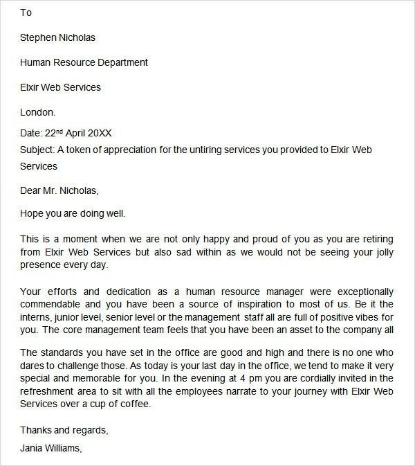 Retirement Letter - 17+ Download Free Documents in PDF, Word