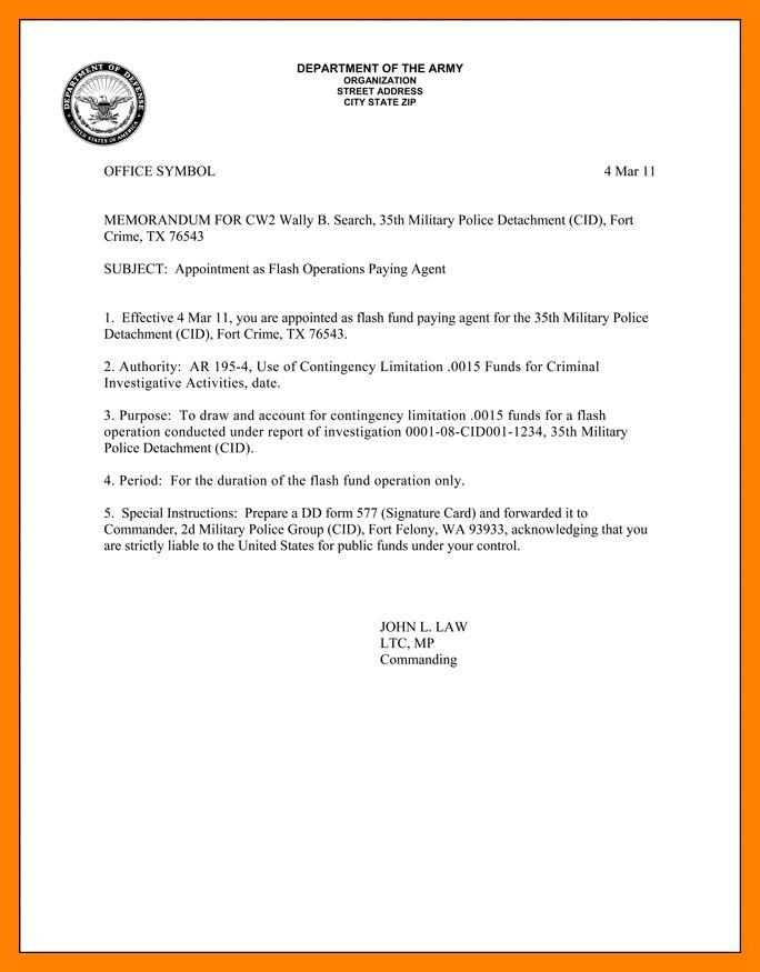 army memorandum template | art resumes