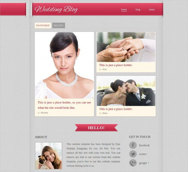 11+ Free Wedding Website Themes & Templates | Design Trends ...