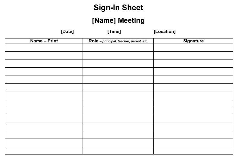 Sign In Sheet Templates. Customizable Printable Sign Up Sheets ...