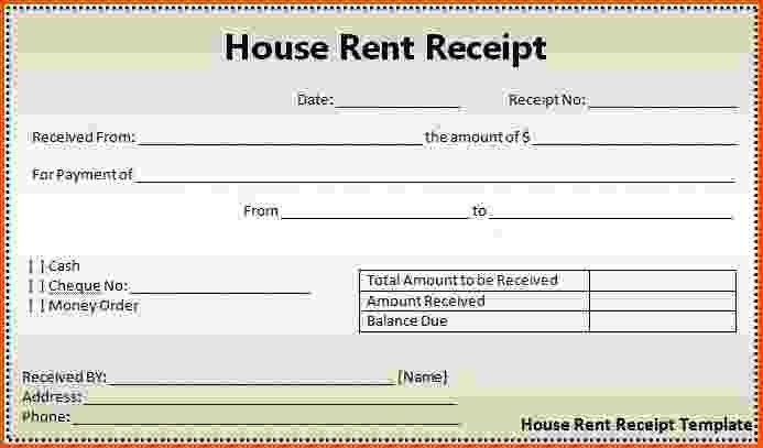 landlord rent receipt template