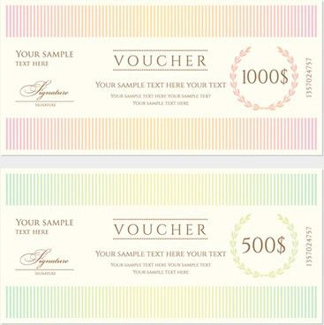 Gift voucher design template free vector download (14,795 Free ...