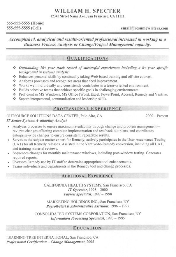 Example Of Business Analyst Resume - Templates