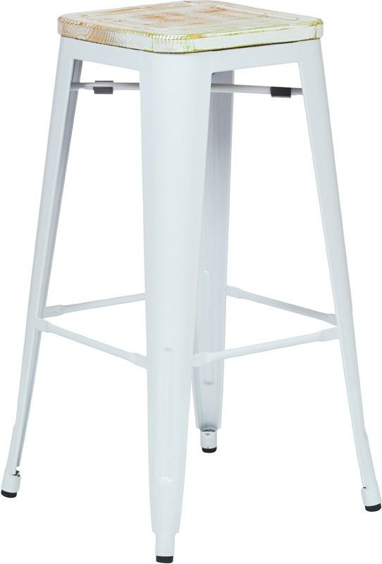 Designs Bristow 30'' Metal Barstool with Wood Seat - Set of 2 ...