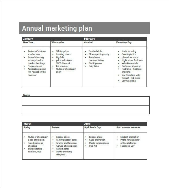 Annual Marketing Plan Template – 10+ Free Word, Excel, PDF Format ...