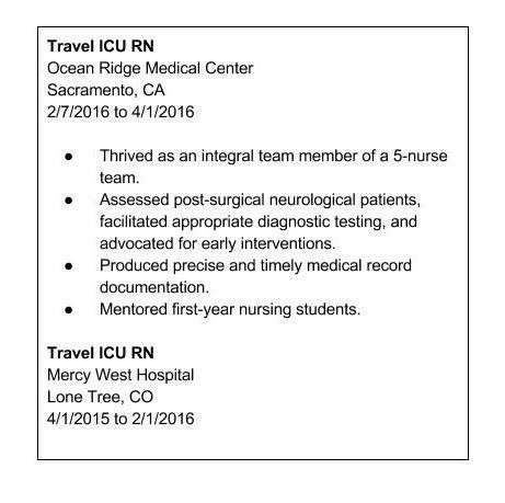 Download Travel Nurse Resume | haadyaooverbayresort.com