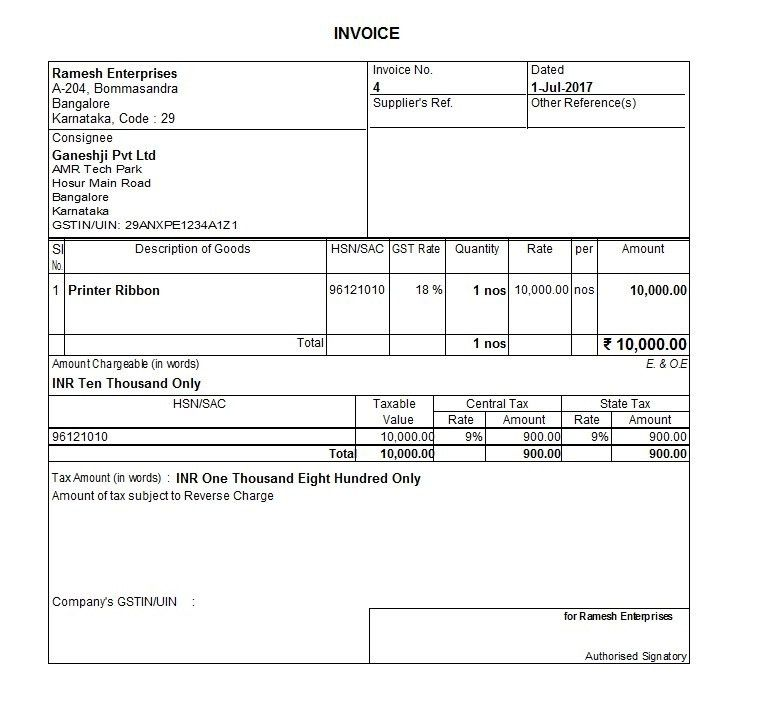 Guide to Start GST Invoicing from 30th June Midnight – Nandini Infosys