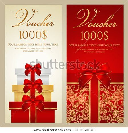 Gift Card Gift Voucher Template Shiny Stock Vector 489007129 ...