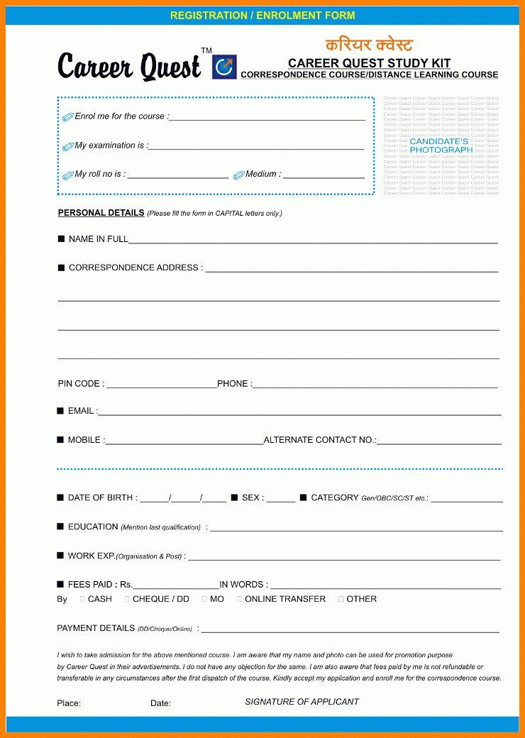9+ coaching admission form format | resume language