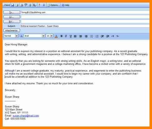 5+ email covering letter for job application - mail clerked