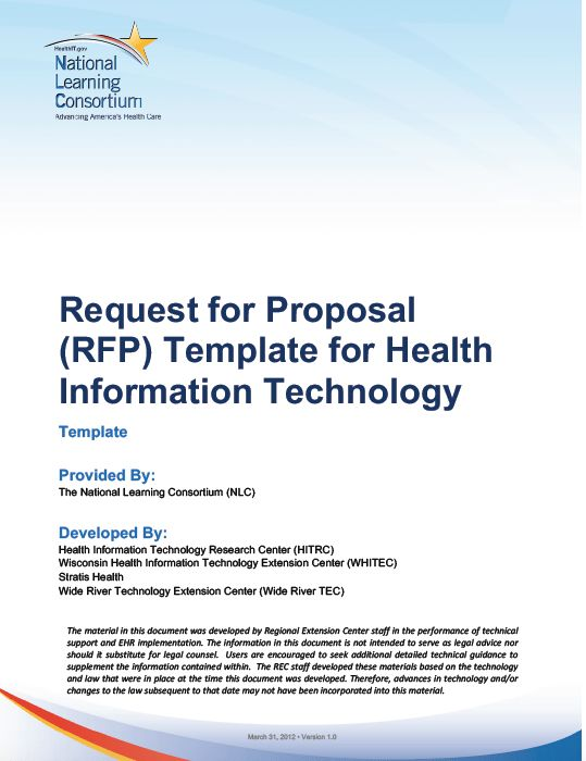 HITEQ Center - Request for Proposal Template for Health ...