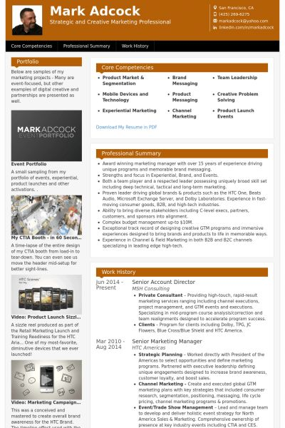 Account Director Resume samples - VisualCV resume samples database