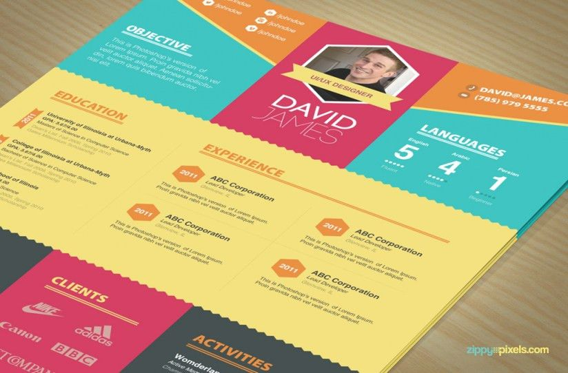 Colorful Stylish Resume and Cover Letter Templates – 3 color sets ...