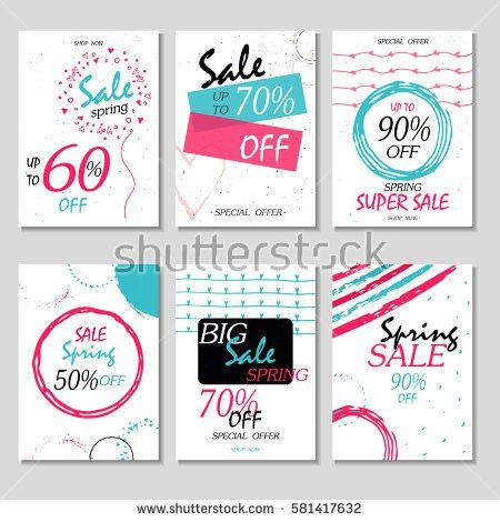 Set Social Media Sale Website Mobile Stock Vector 537423682 ...