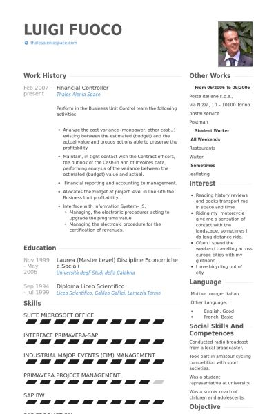 Controller Resume samples - VisualCV resume samples database