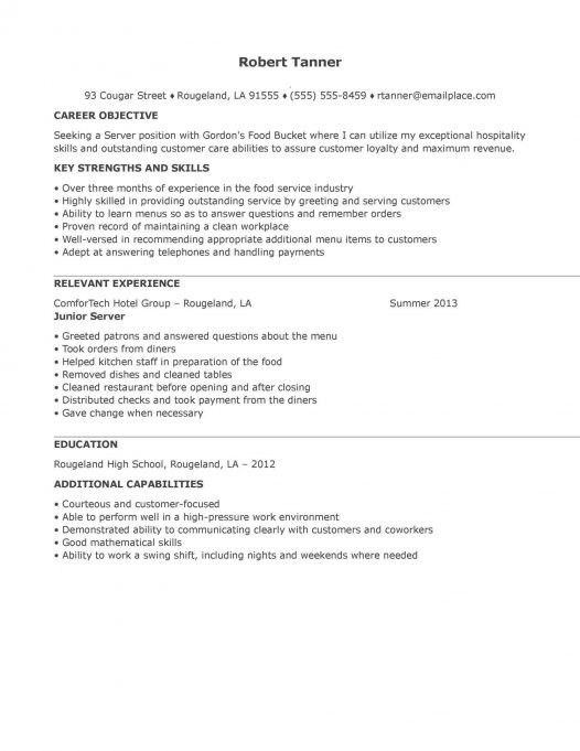 Waitress Resume Example. Cocktail Waitress Resume Waitress Resume ...